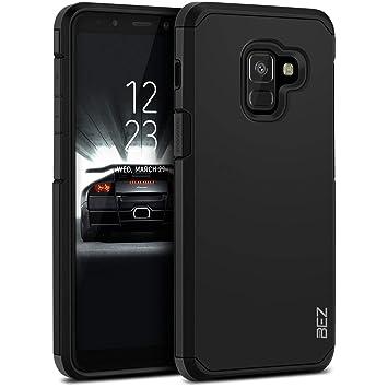 BEZ Funda Samsung A8 2018, Carcasa Protectora para Samsung Galaxy A8 2018 Antideslizante Ultra Híbrida Gota Protección, Cover Anti-Arañazos con ...
