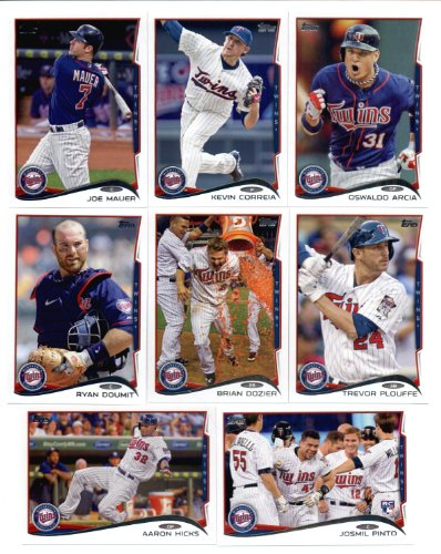 2011, 2012,2013 & 2014 Topps Minnesota Twins Baseball Card Team Sets (Complete Series 1 & 2 From All Four Years ) (18 ()