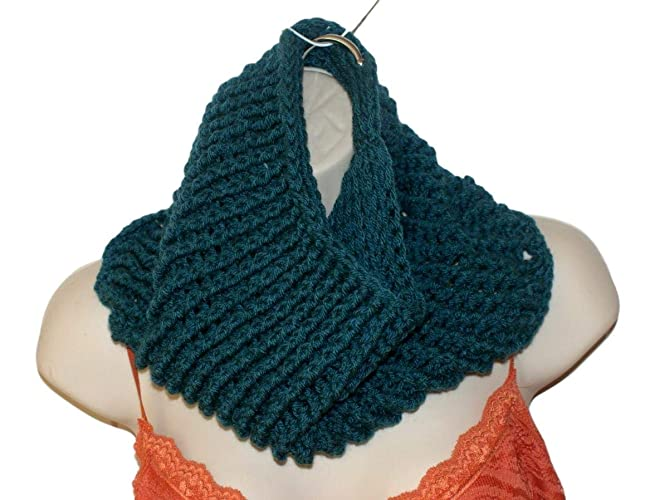 Amazon Infinity Scarf Slouchy Scarf Teal Cowl Winter Cowl