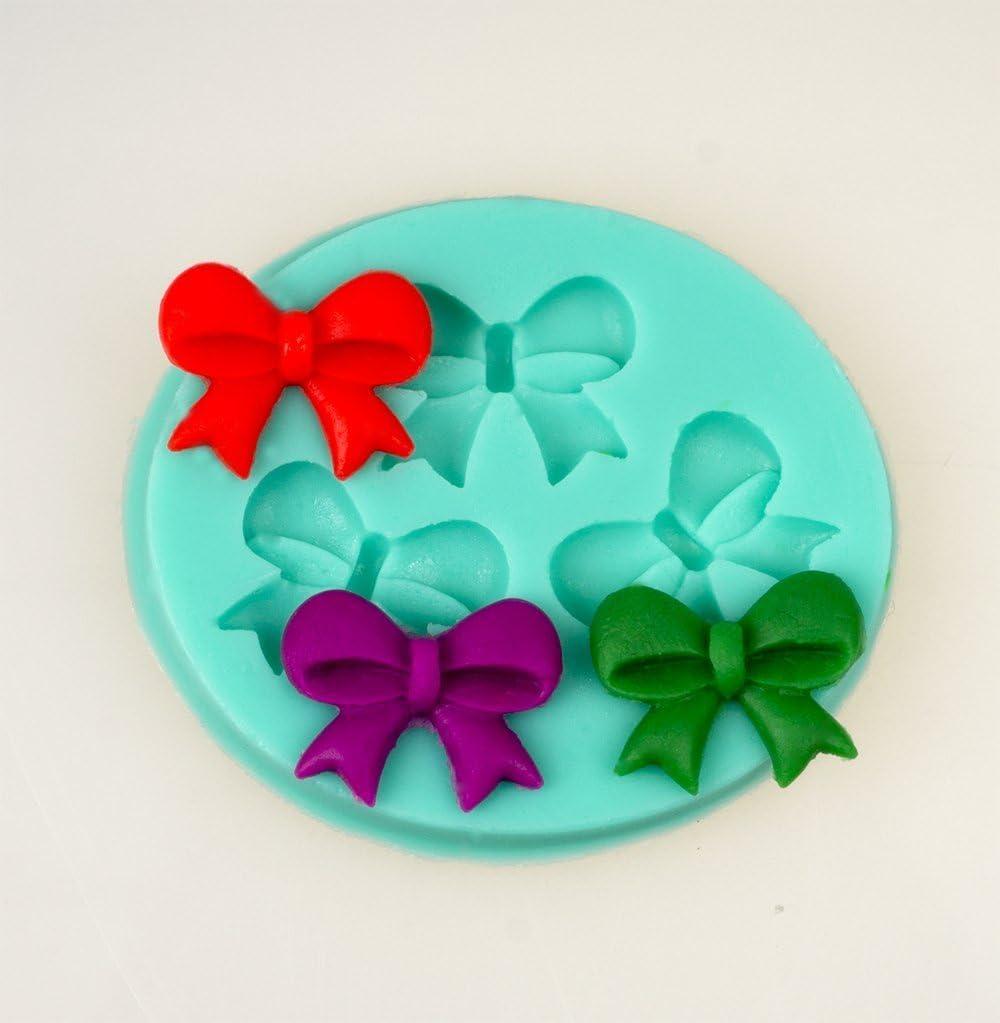 N/œuds 3D Fleur Fondant moule g/âteau d/écoration moule outil couleur al/éatoire DIY Silicone Chocolat d/élicat