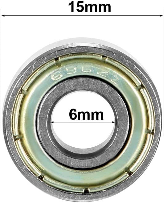 sourcing map Balero Cojinete de bolas de ranura profunda 693ZZ doble escudo 3 x 8 x 4 mm de acero al carb/ón 20 piezas