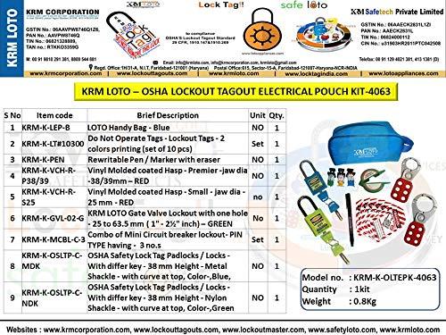 KRM Loto - OSHA Lockout TAGOUT Electrical Pouch KIT-4063