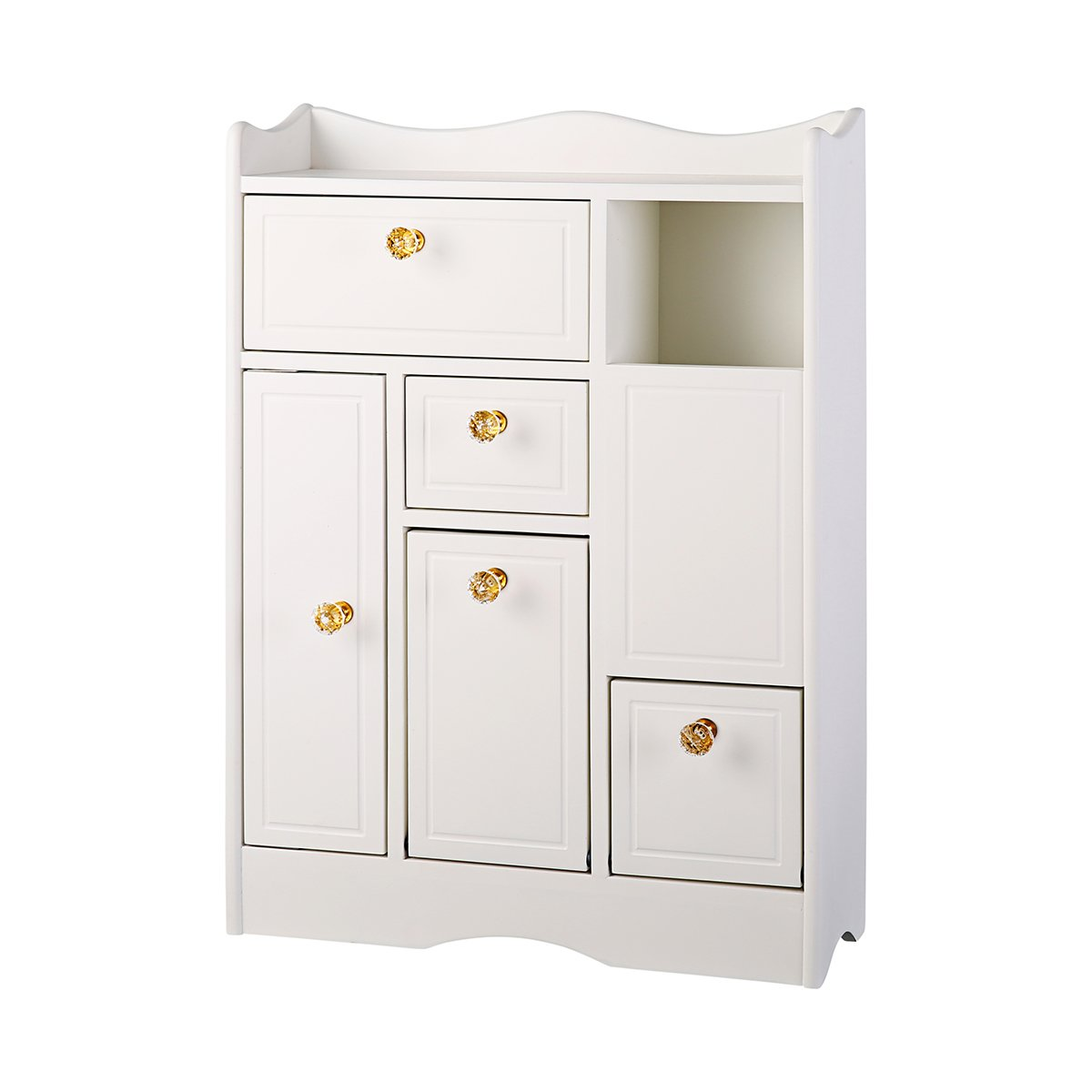 Teapround Bathroom Floor Storage Cabinet Tissue Dispenser White Drawer