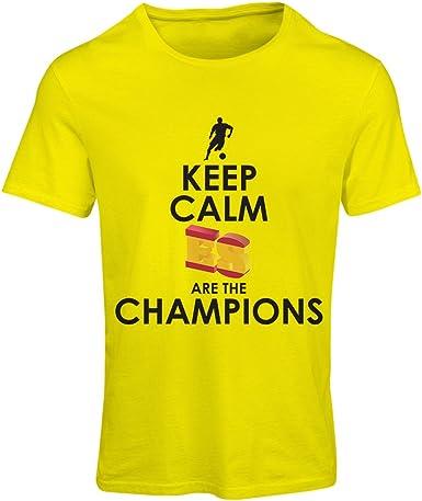 lepni.me Camiseta Mujer Españoles Son los campeones, Campeonato de Rusia 2018, Copa del Mundo - Equipo del fútbol de Camisa del admirador de España: Amazon.es: Ropa y accesorios