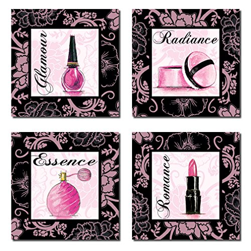 Fashion Pink Romance Makeup Art Print Poster by Gregory Gorham, Four Mounted Prints Ready