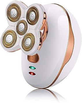 Kit de cuidado de aseo personal Afeitadora eléctrica Maquinilla de afeitar rotativa Mujeres Hombres Depiladora Recortadora de cabello recargable con 5 cabezales flotantes,B: Amazon.es: Salud y cuidado personal
