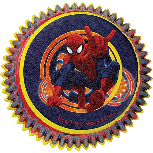 Wilton Spiderman Licensed Baking Cups, Pack of 50 -