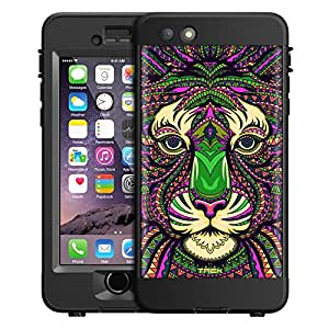 Skin Decal for LifeProof nuud Apple iPhone 6 Plus Case - Aztec Tiger Head