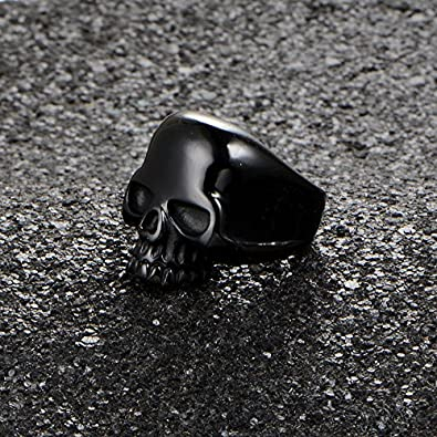 MCSAYS Punk Jewelry Skull Head Ring Skeleton Finger Ring Decoration Gifts
