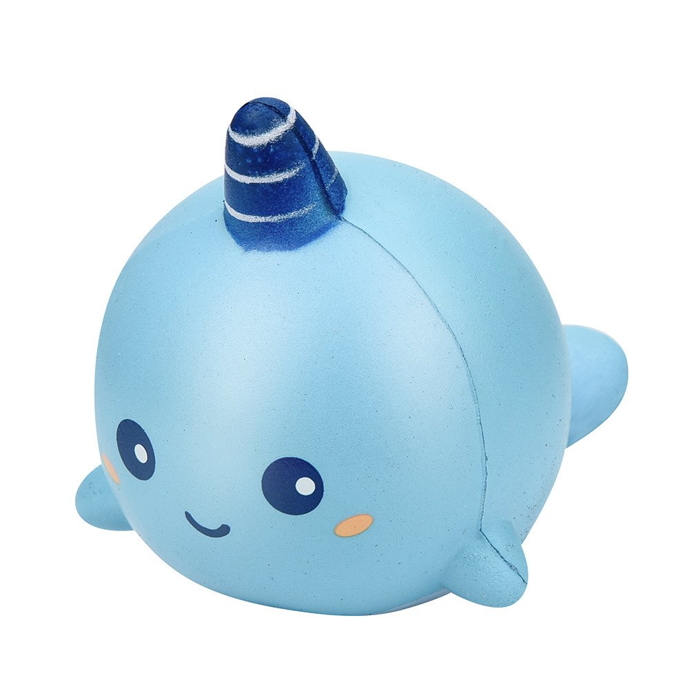 Unicorn Whale Cartoon Scented Charm Slow Rising Squeeze Toy Charm,Selinora'S Anti-Stress Cute Kawai Squishy Decompression Soft Relieve Stress Color Mixing Scented Gift for Adult Or Kids