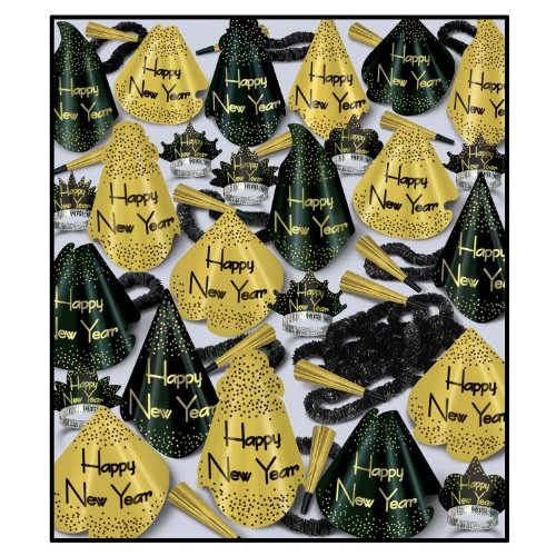 beistle-88990bkg100-1-pack-decorative-the-grand-party-assortments-for-100-people-golden