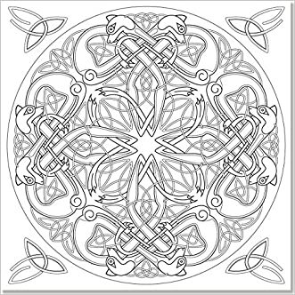 durable service celtic designs adult coloring book 31 stress relieving designs studio - Celtic Coloring Book