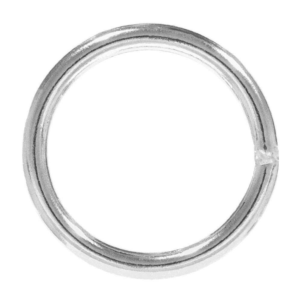 PARACORD PLANET Welded Steel O-Ring – 3/4 inch, 1 inch, 1 ¼ inch, 1 ½ inch, 2 inch – Multiple Pack Sizing - Webbing, Strapping, Binding