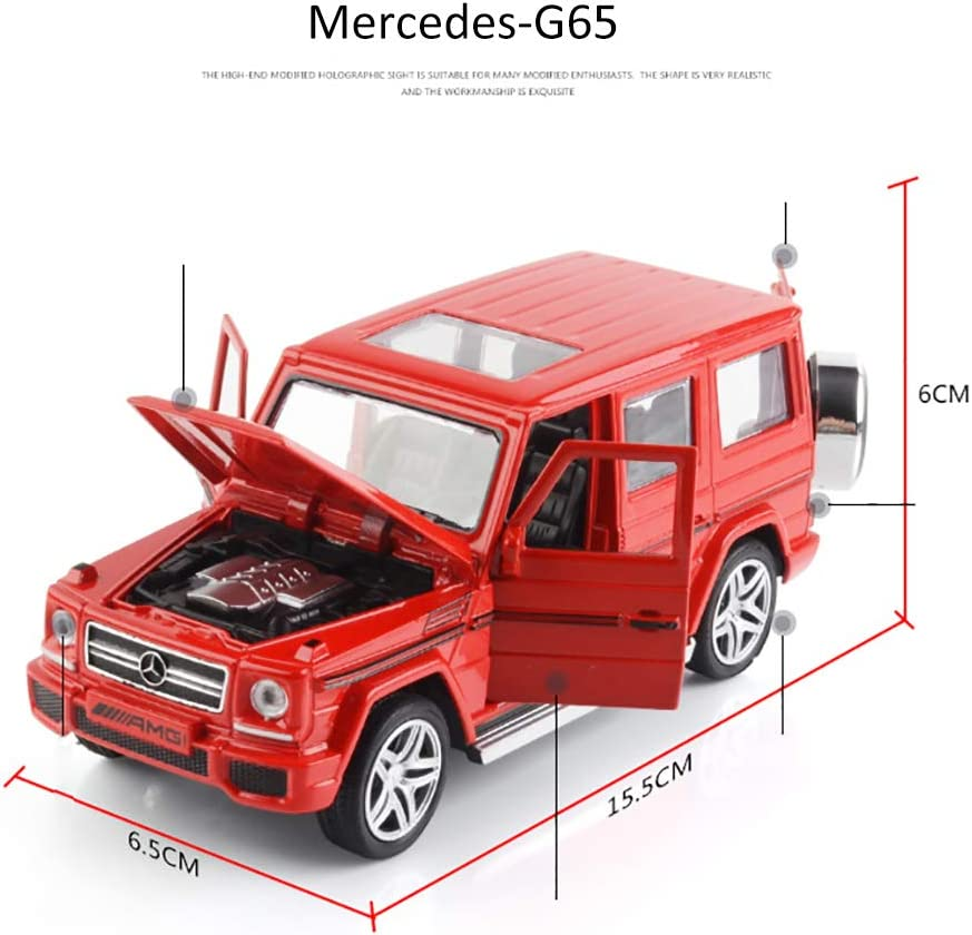 ZZLYY Mercedes Benz G Class Wagon White 1//32 Diecast Model Car,Red