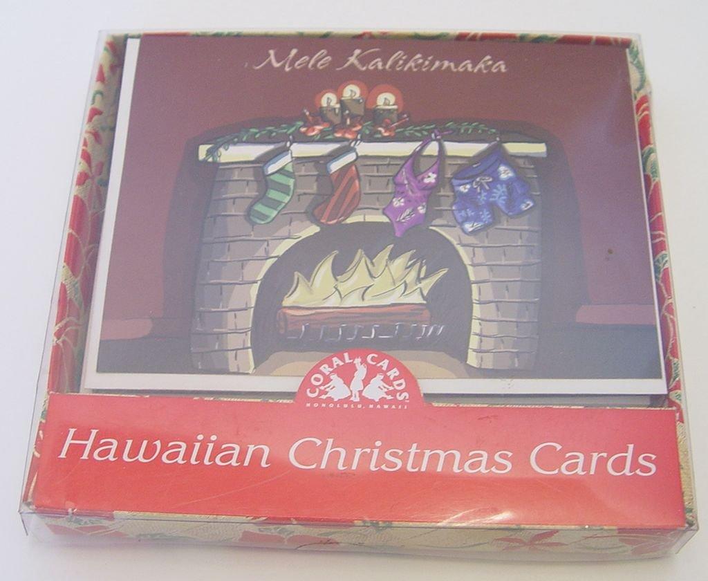Amazon.com : Mele Kalikimaka Stockings Over Fireplace Christmas ...