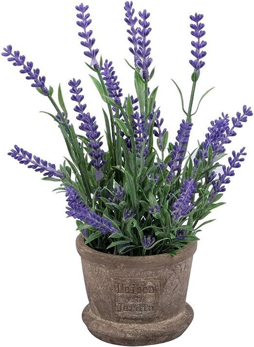 WINOMO flores Artificial lavanda plantas con maceta para jardín casa de interior o de exterior decoración (morado): Amazon.es: Hogar
