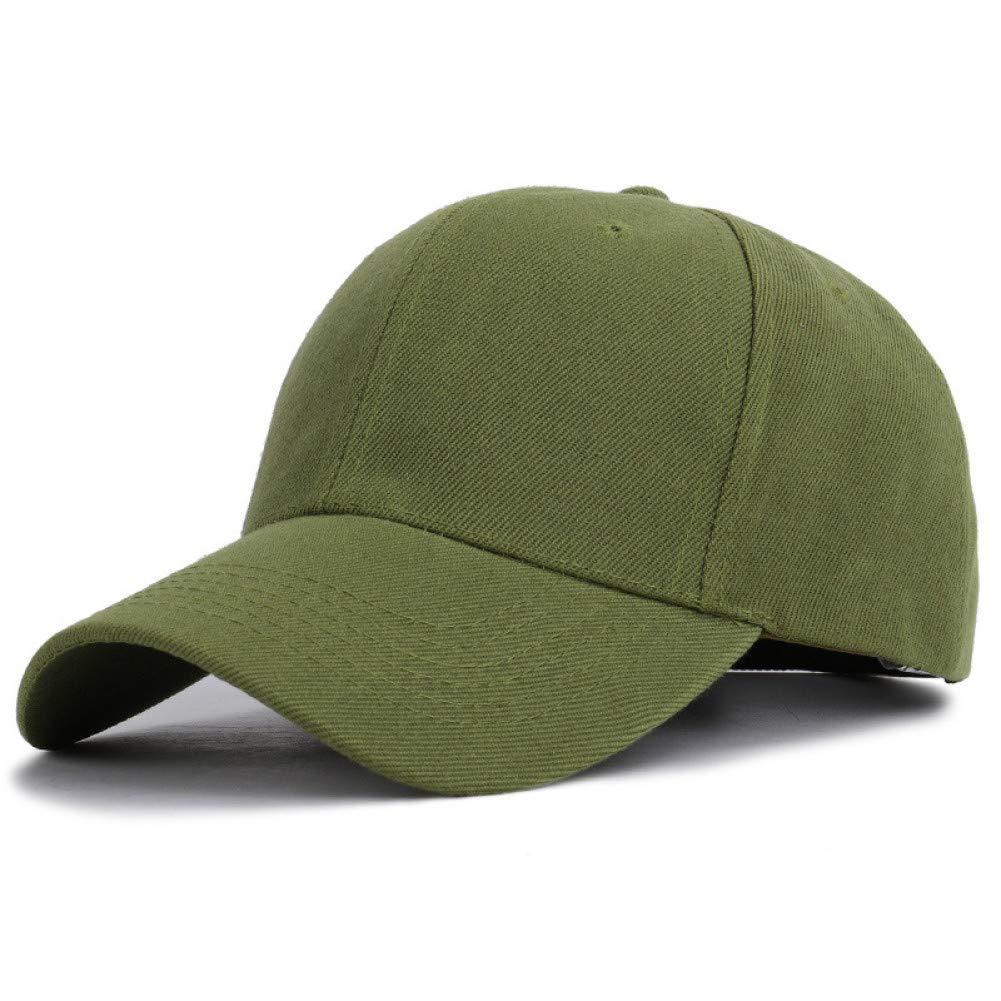ArmyGreen Outdoor Sports hat Baseball Cap Solid Caps Women's Cap Men Unisex Black Women Men'Smen Female Cap Black Baseball Caps Women Dad Hats for Men GrljdHat