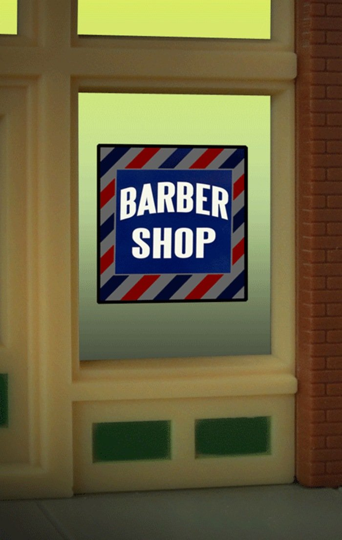 8930 Barber Shop Window Sign by Miller Signs