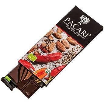Pacari Bio Schokoladen Tafel 60% Kakao mit Chili 50g