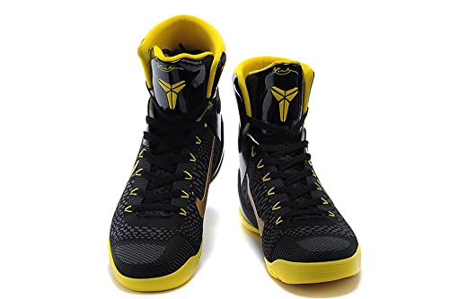 buy online a63c2 93b9a Mens Kobe 9 Elite High Top Basketball Shoes Black Yellow 43EU 9.5 D(M