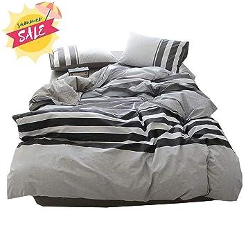 Polka Dots Fashion Stripes Blue//Brown//Cream Duvet Cover Bedding Set Pillowcases