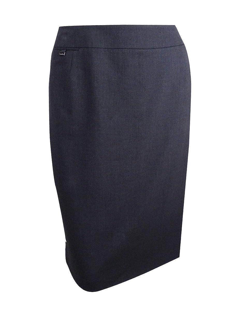 Calvin Kleinプラスサイズスカート、コインポケットSuiting 24W チャコールグレー B07FQYGVD4