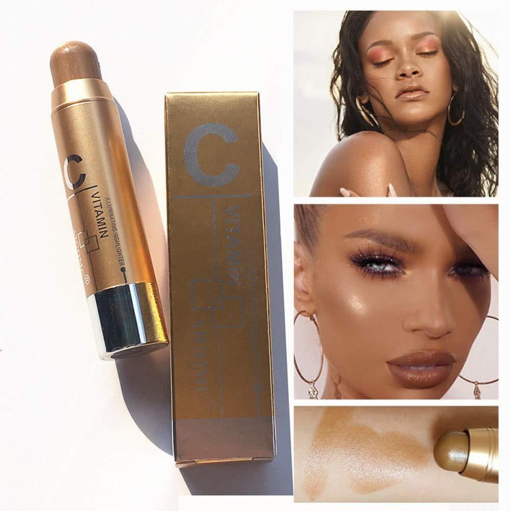 Highlight Powder Stick, Longay Women Highlight Contour Stick Beauty Makeup Face Powder Cream Shimmer Concealer (C)