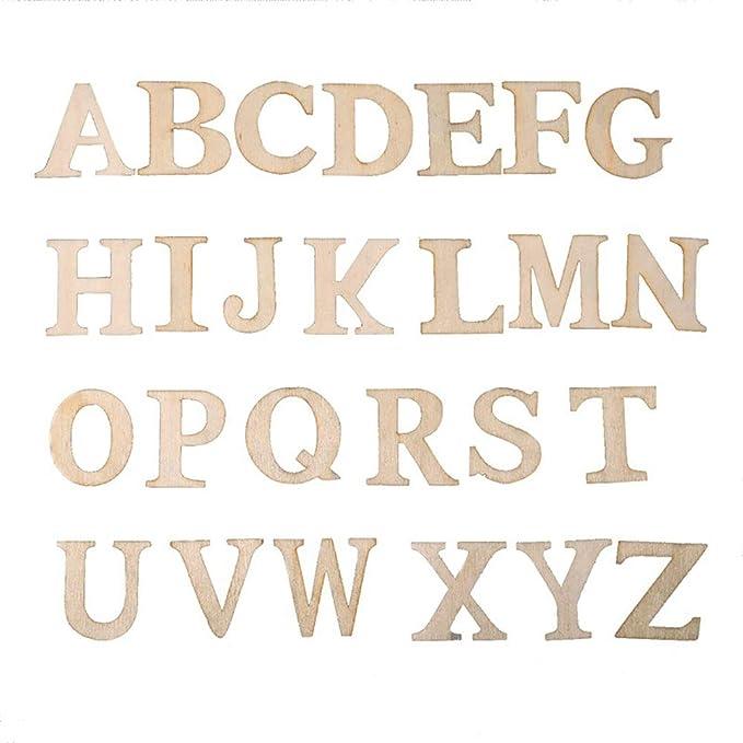 Yosoo 200 St/ück Holz A-Z Holz Buchstaben DIY Spielzeug f/ür Kinder Kinder Early Learning Type#1 Letters