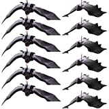BigOtters 12pcs Halloween Bats,Rubber Hanging Vampire Bats for Halloween Party,April Fool's Day,Haunted House Decoration