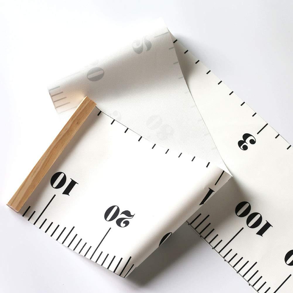 tabla de medidas de altura Forest Animals YUEKUN Tabla de crecimiento de pared con marco de madera y altura de 19 x 200 cm para colgar en la pared regla para ni/ños y adultos