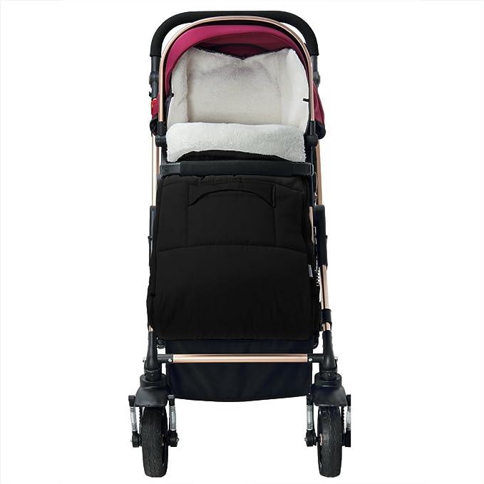 Saco para bebé para cochecito, silla de coche o asiento de bebé color gris - 93 x 56 cm - material: poliéster 100 %: Amazon.es: Bebé