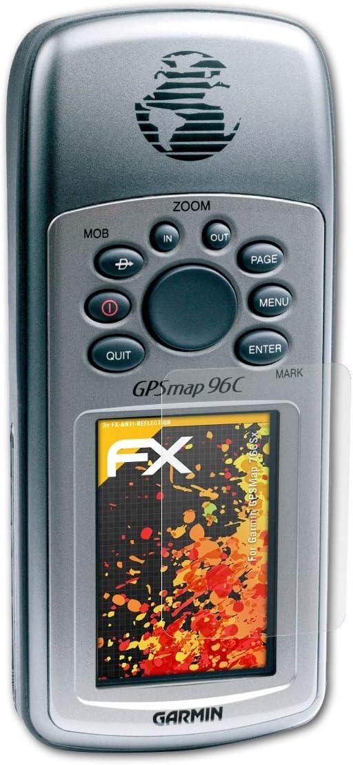 atFoliX Película Protectora Compatible con Garmin GPSMap 76CSx Lámina Protectora de Pantalla, antirreflejos y amortiguadores FX Protector Película (3X)
