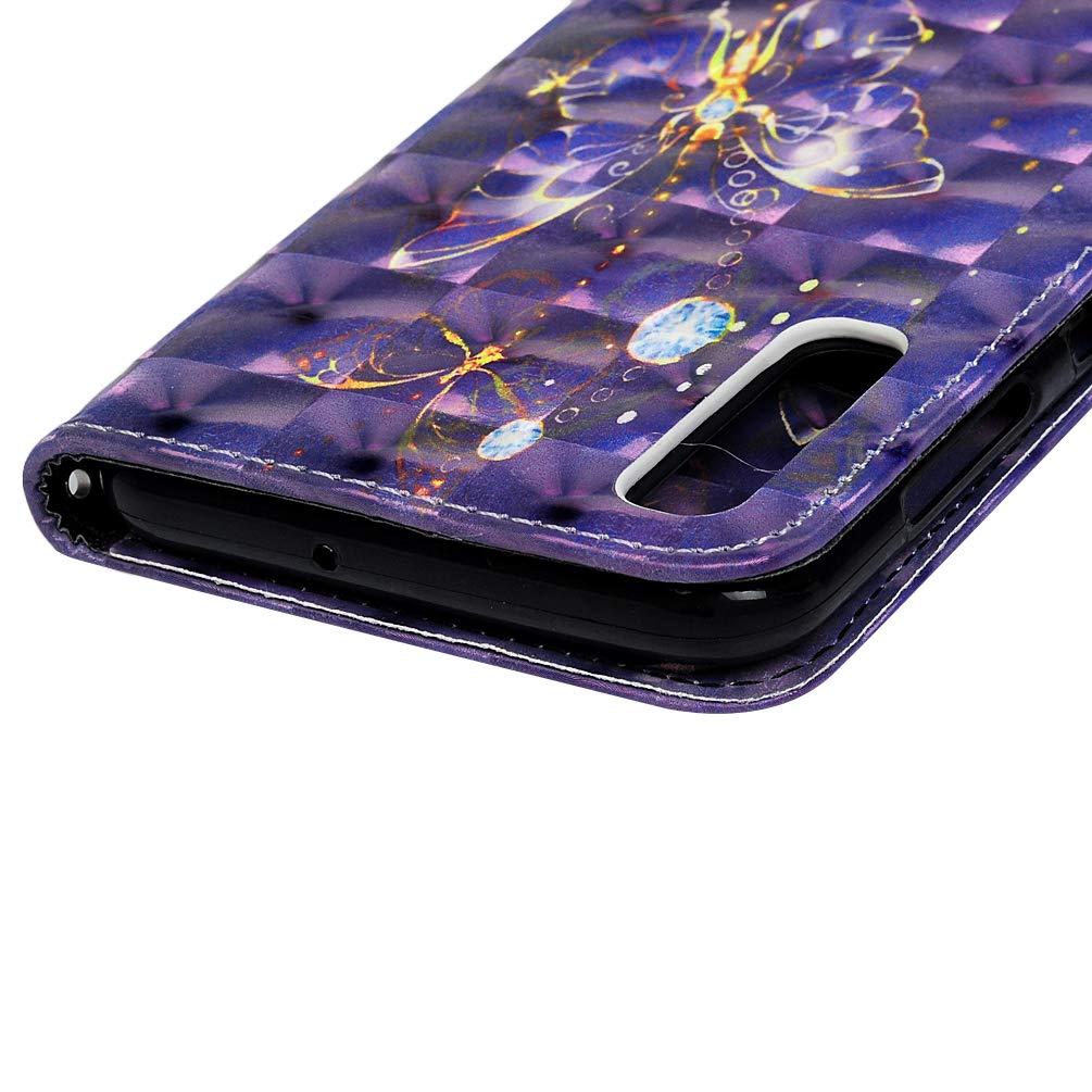 Einfarbiger Flip PU Leder Handyh/ülle Klappbares Brieftasche Schutzh/ülle Stand Wallet Case Cover Tasche mit Karteneinschub Katze Liebe Blume MLorras H/ülle f/ür Samsung Galaxy A50