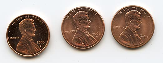50 US Coins 2006 Gem Proof Lincoln Cent Roll