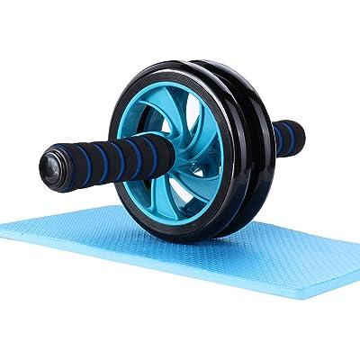 Roller abdominal Mitavo , AB Roller, Ab Wheel, Appareil d'exercice pour abdominaux avec repose-genoux destiné au fitness et à l'entraînement efficace des muscles abdominaux / des muscles des épaules