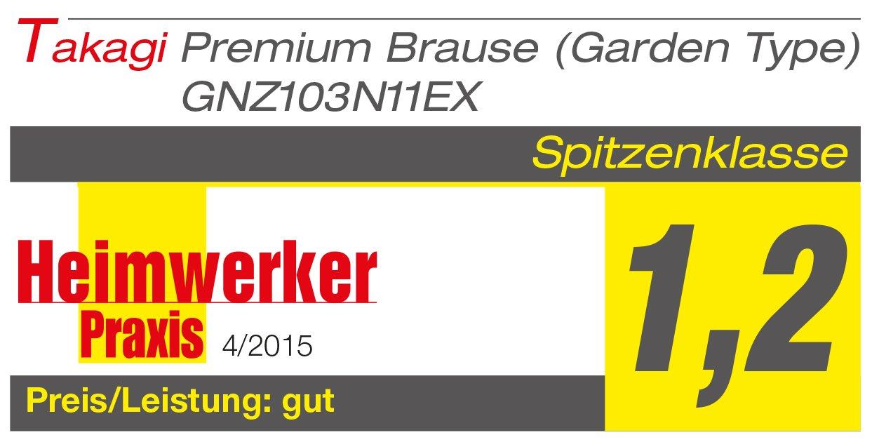 TAKAGI Premium Brause Gie/ßbrause Blau//wei/ß//schwarz 8,2x17,3x19,1 cm Garden Type