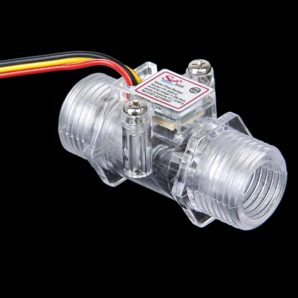 Sharplace 2x Sensor Caudalí metro De Flujo De Agua Controlador Para Casa Hogar 1-30L/min 1/2'