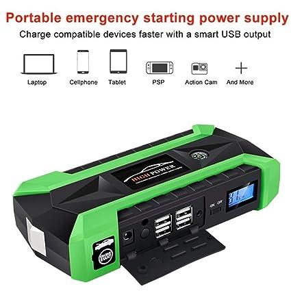 SHXN Arrancador De Coche 89800mAh 12V 4USB 600A Batería para ...