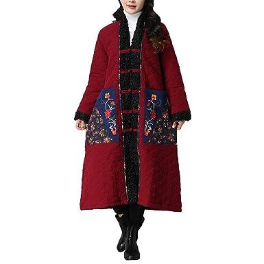Linlink Mujeres Invierno Abrigo Folk-Personalizado algodón Acolchado de Cordero Cachemira fácil Chaqueta de algodón: Amazon.es: Ropa y accesorios