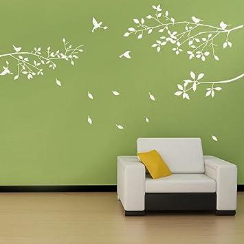 Bdecoll Decoration Murale De Branches D Arbre Avec Oiseaux Stickers