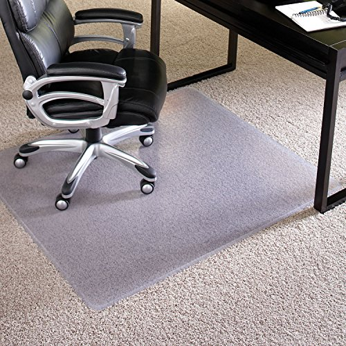 - ES Robbins 124381 Chair Mat Extra-High Pile Carpet, 46