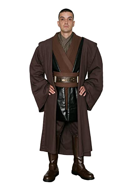 Jedi-Robe - Mens Tunic Set and Robe - Compatible with Anakin Skywalker Star Wars Costume