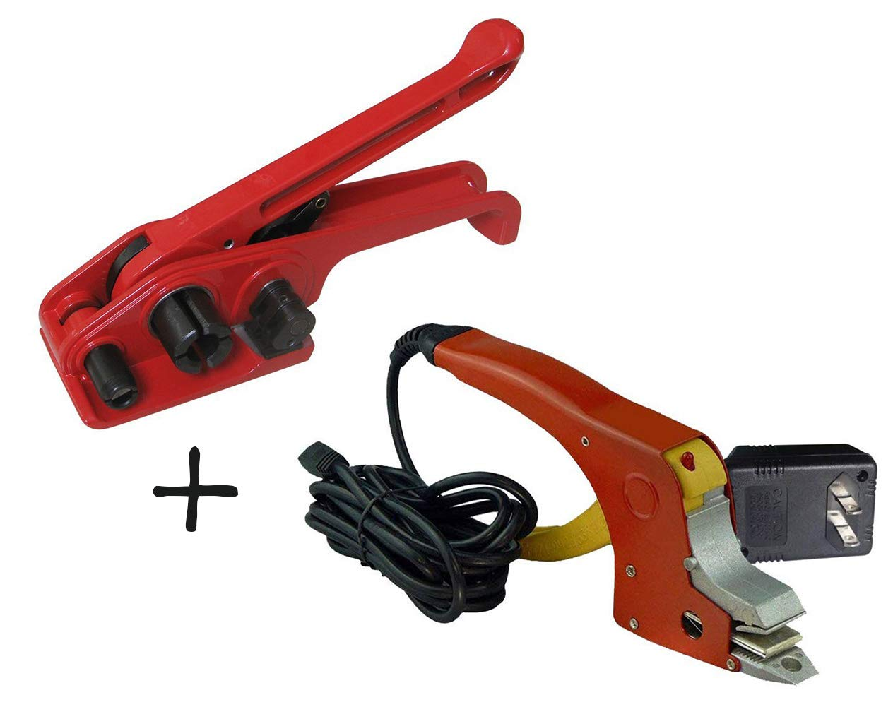 """Poly Strapping Tensioner & Hot Meltting Strapping Sealer for Ploypropylene Strap 1/2 to 5/8"""" Buckle-Free Electrical Strapping Tools"""