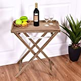 amd cup cooler - Portable Folding Table Tray End Serving Table Stand Table Sofa Dinner Accent