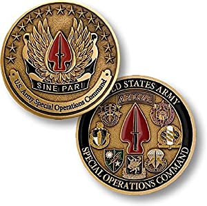 U.S. Army Special Operations Command Sine Pari Challenge Coin by Armed Forces Depot