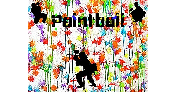Paintball Splatter Laser Tag Party Theme Edible Cake Topper Image Frosting Sheet Home & Garden Baking Accs. & Cake Decorating