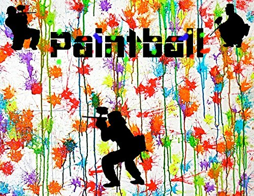 PAINTBALL SPLATTER Laser Tag Party Personalized Birthday Edible