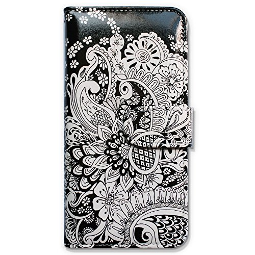 iPhone 6s Plus Case, Bfun Packing Bcov White Flowers Slot Wallet Leather Cover Case For iPhone 6 Plus/6S Plus