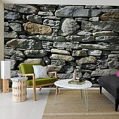 Amazhen Custom 3D Stone Brick Wall Wallpaper Country Style Wall Mural Elders' Room Paper Wallpapers Home Improvement,