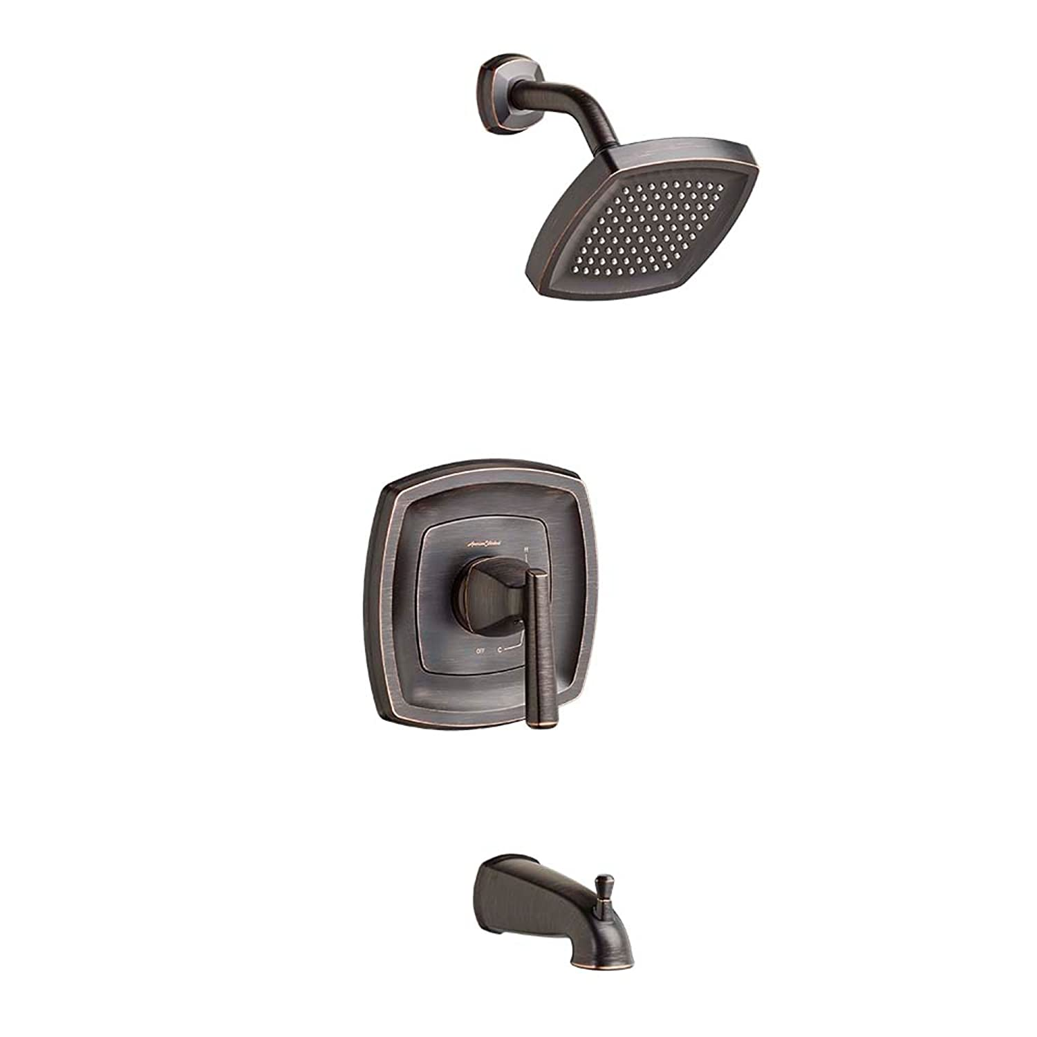 American Standard T018502.278 Edgemere Bath/Shower Trim Kit - 2.5 gpm, Legacy Bronze